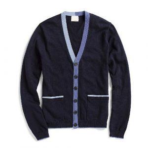 mens plain cashmere sweater single button cardigan